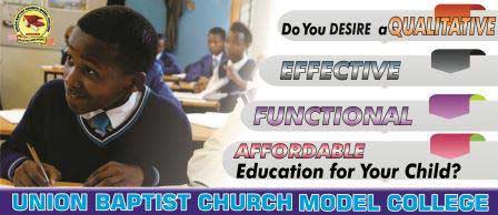 Union Baptist Church Model College - Academic Forms